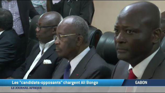 Au Gabon, les candidats opposants chargent Ali Bongo