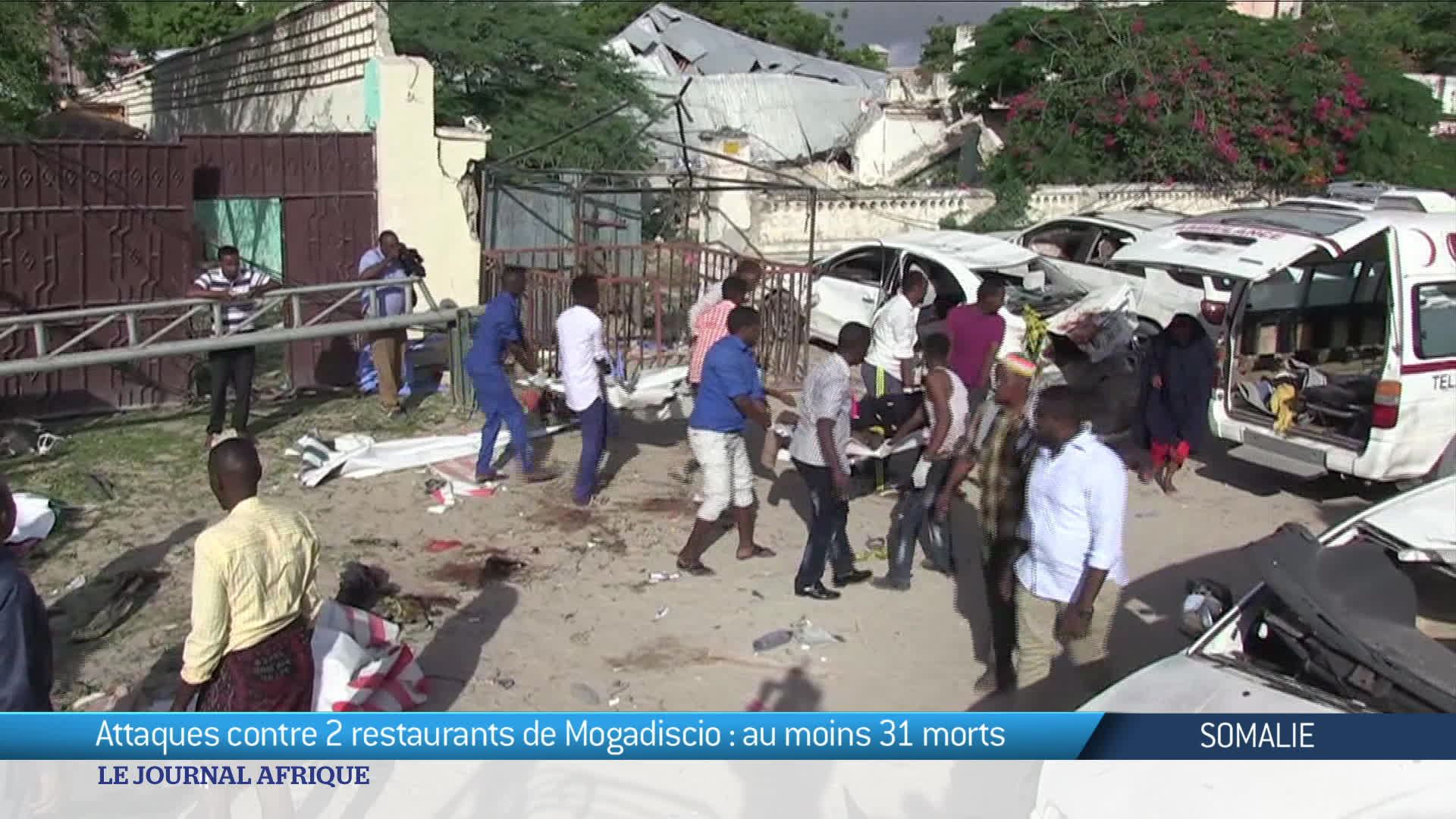 Somalie : attaques contre 2 restaurants de Mogadiscio, au moins 31 morts