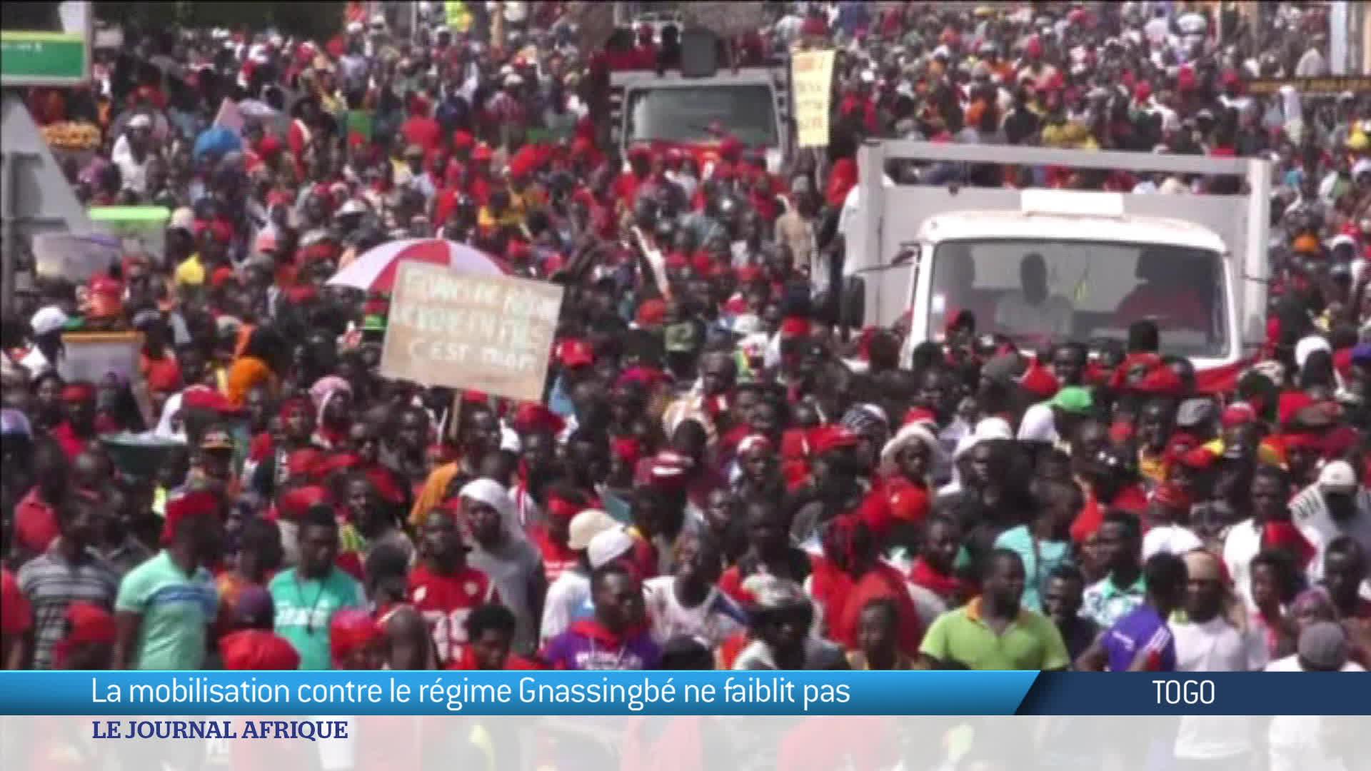 La mobilisation ne faiblit pas au Togo
