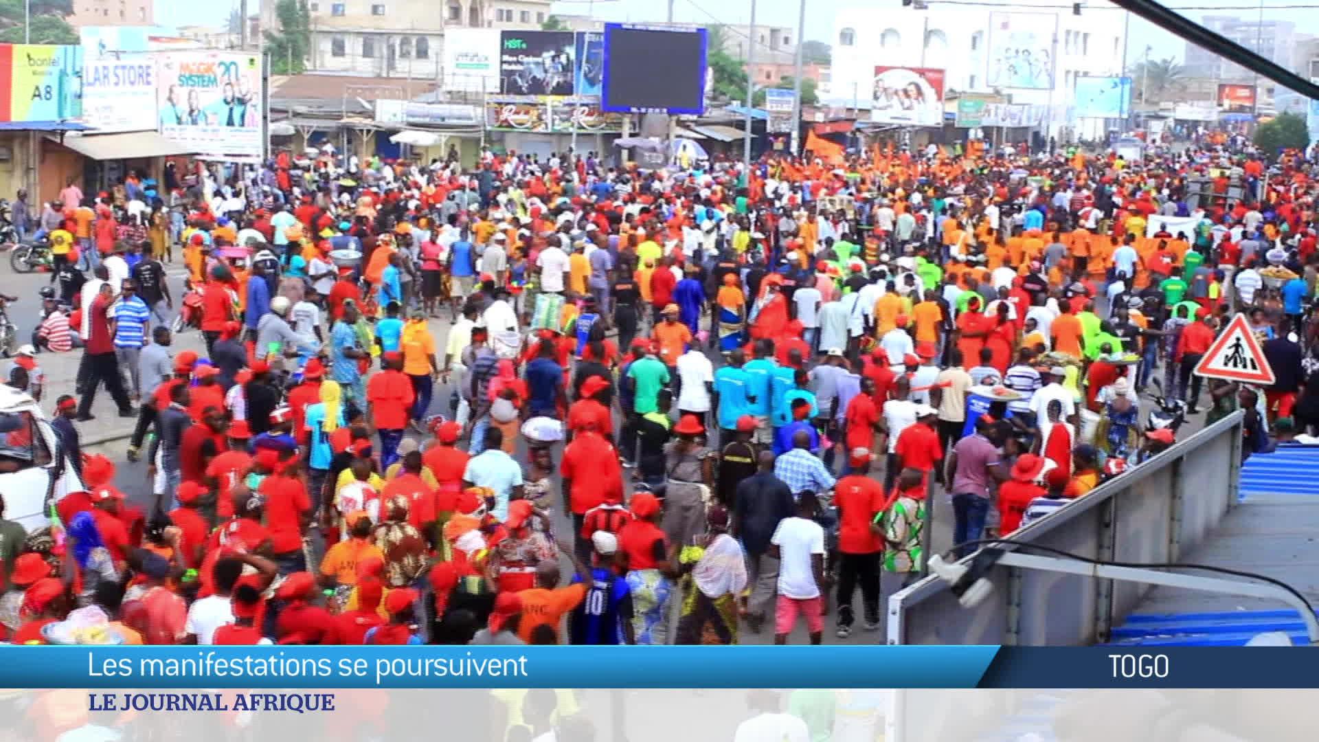 Les manifestations se poursuivent au Togo